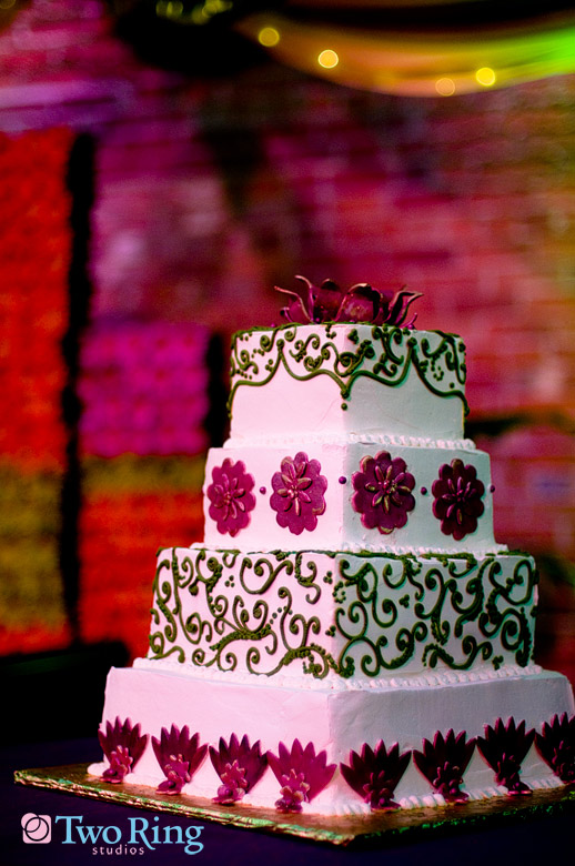Cake at Indian wedding reception