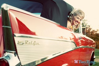 Bridal session with 1957 Chevy