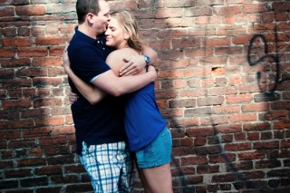 Engagement shoot downtown