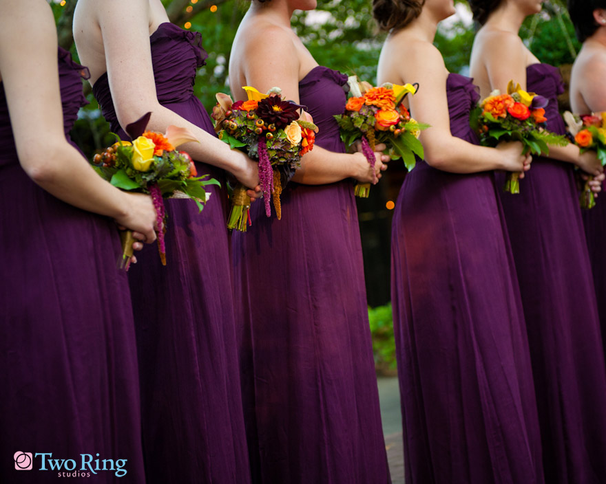 Purple Flowers For October Wedding : Fall wedding in asheville at biltmore estate falon and clay