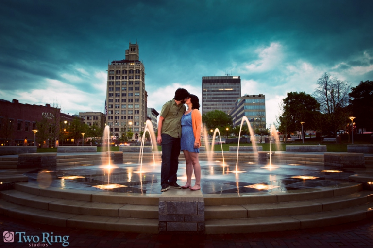Engagement photos in downtown Asheville