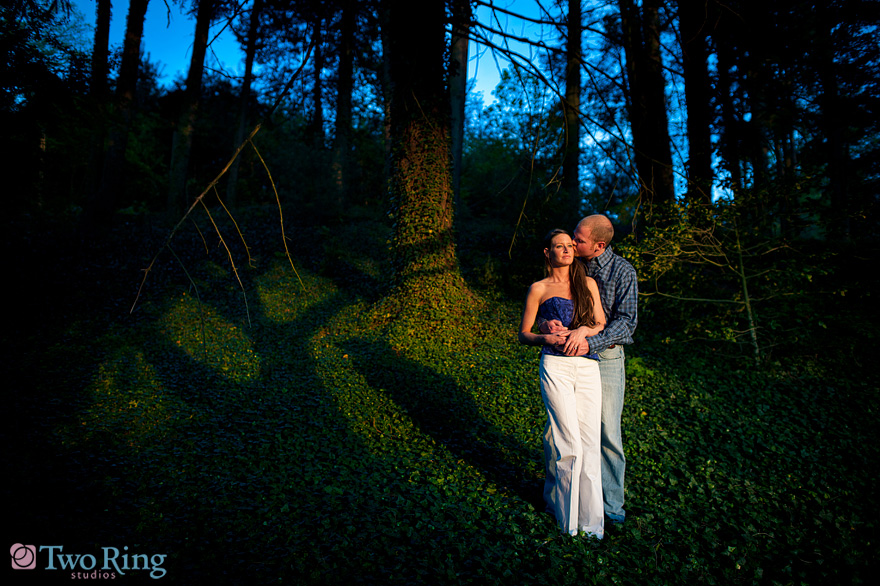 creative light engagement photo