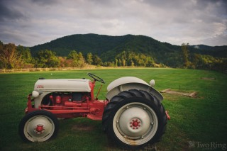 Tractor at Claxton Farm wedding event