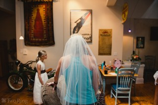 Bride's veil, before the wedding
